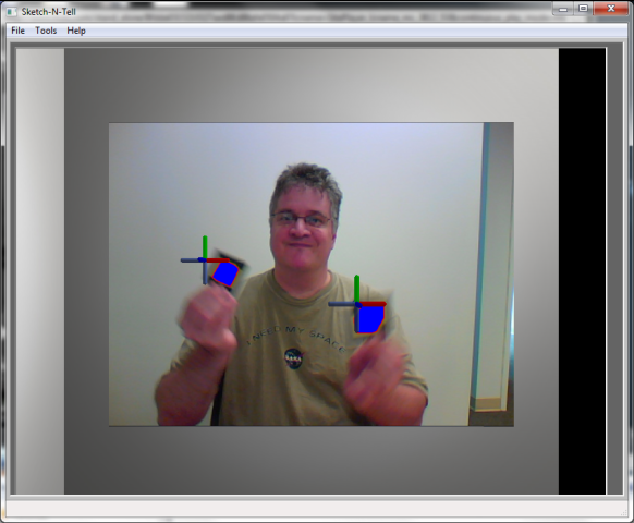3D cursors from webcam